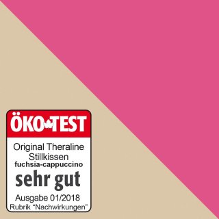Theraline- Stillkissen- Original BIO- cappuchino/fuchsia