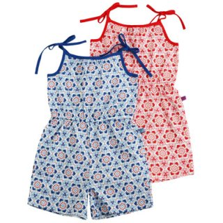 Enfant Terrible-Web Overall-Mosaik- red-white- (Gr.122-152)