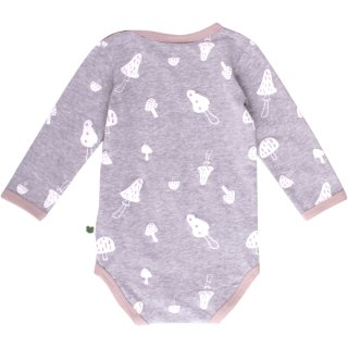 Fred´s World by Green Cotton- Langarmbody- mushroom- grey- Gr.56-98