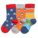 Kite- Little cub socks- 3er- fox/stars/stripes- 0-4 Jahre